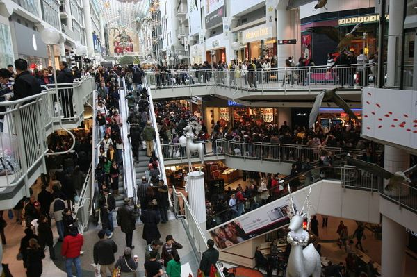 Boxing Day at the Toronto Eaton Centre