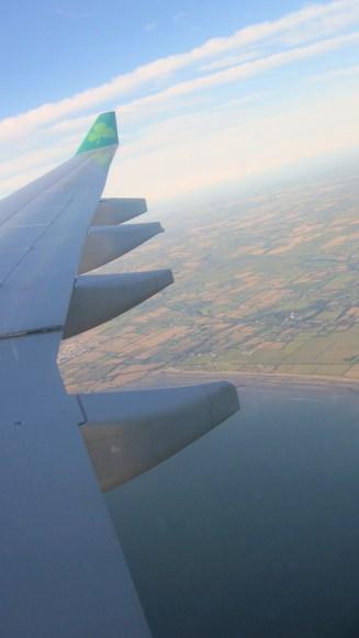 Flying into Dublin