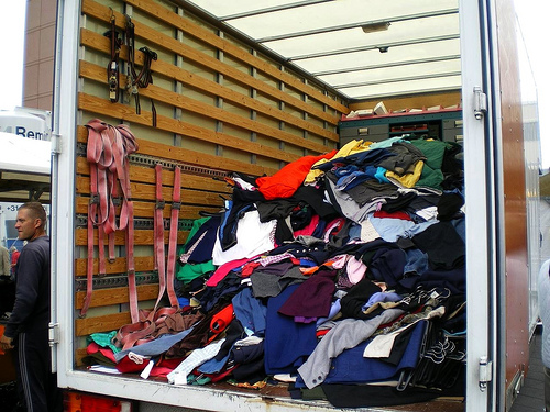 Truck Full of Donated Clothes