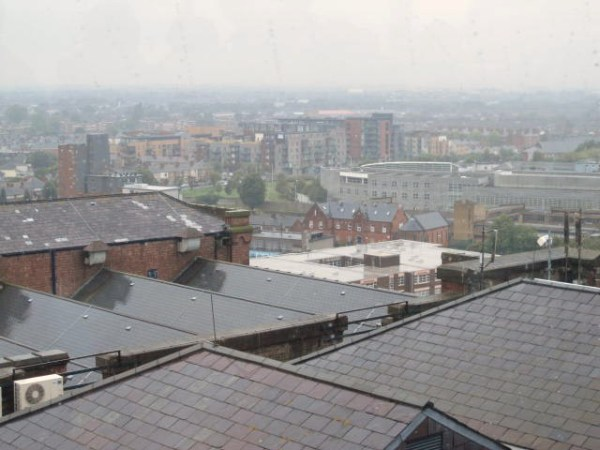 The views from the top of the Gravity Bar of Dublin city are amazing (when it's not pouring, that is)