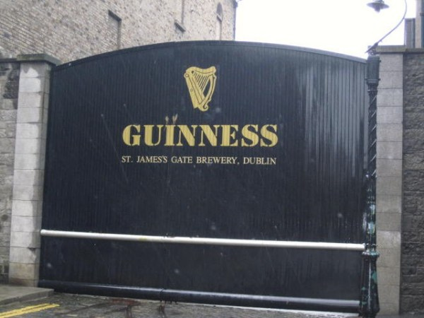 Arriving at the birthplace of Guinness