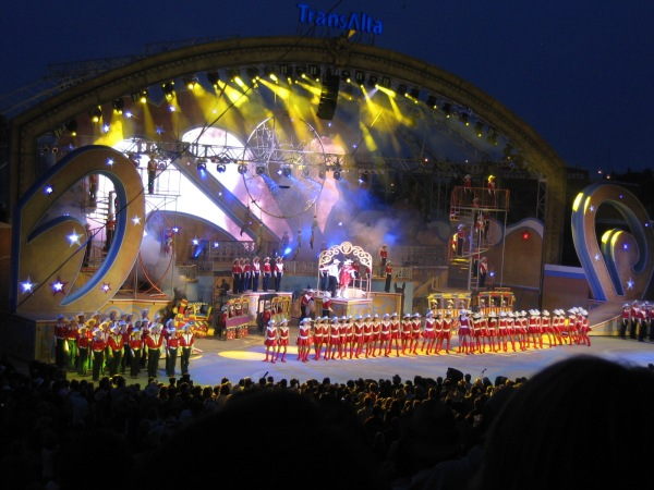 Young Canadians performing in the Grandstand Show